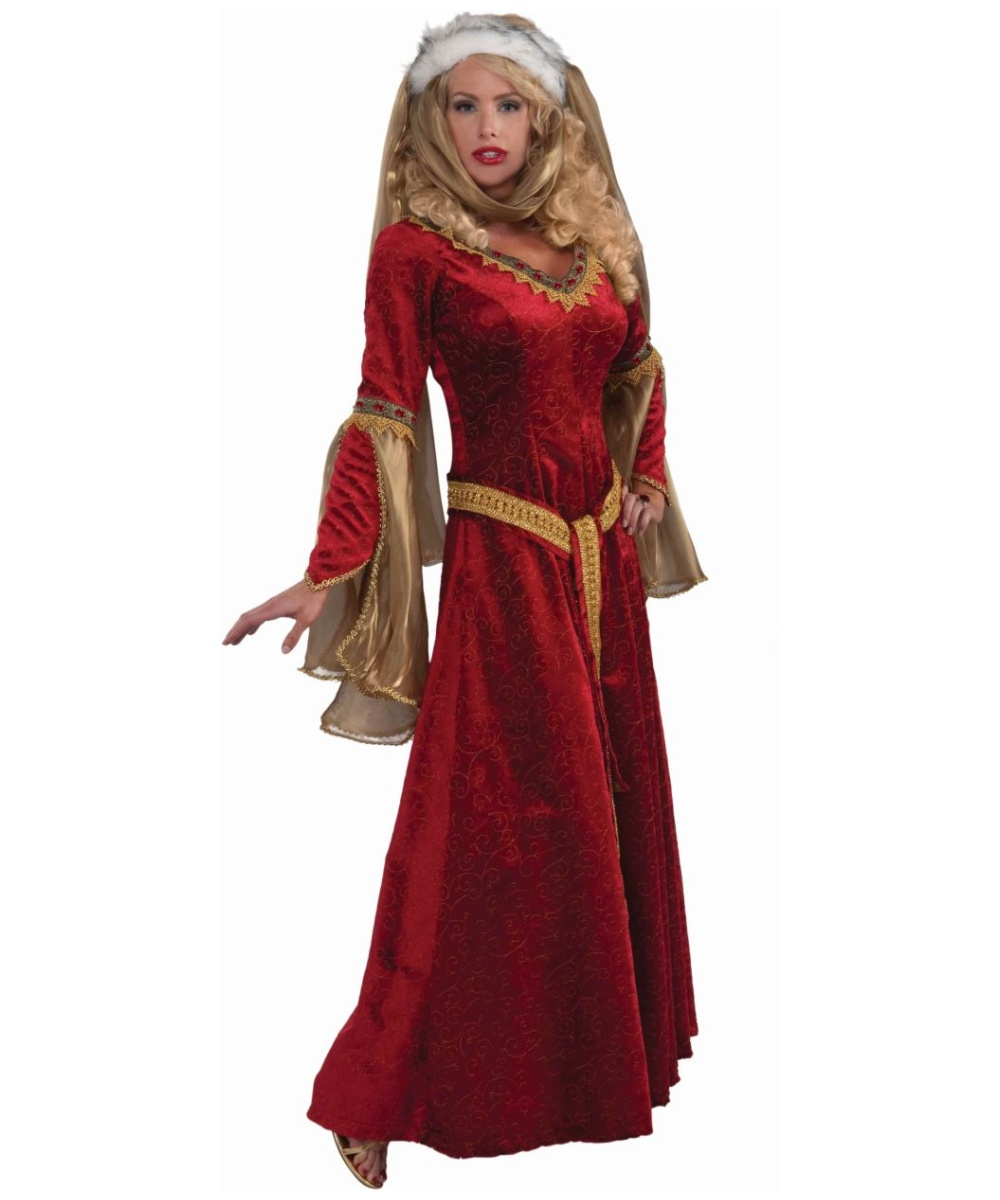 sc 1 st  Halloween Costumes & Adult Scarlet Renaissance Costume - Women Costume