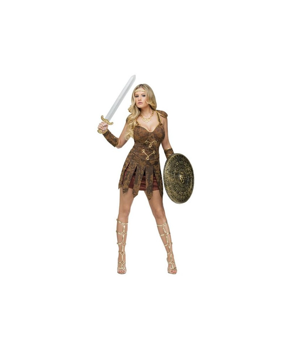Roman Gladiator Halloween Adult Costume - Roman Halloween Costumes-4525