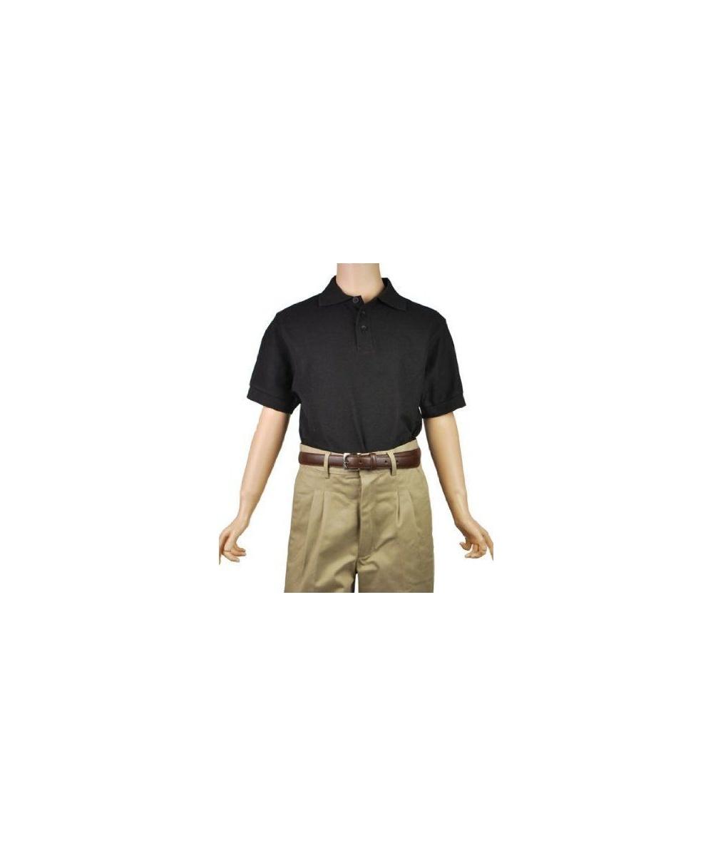 e2872dc20 black short sleeve pique unisex teen polo universal school uniforms