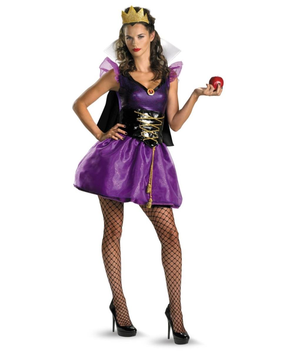 Snow White Evil Queen Sassy Disney Womens Costume  sc 1 st  Halloween Costumes & Snow White Evil Queen Sassy Adult Costume - Snow White Disney Costumes