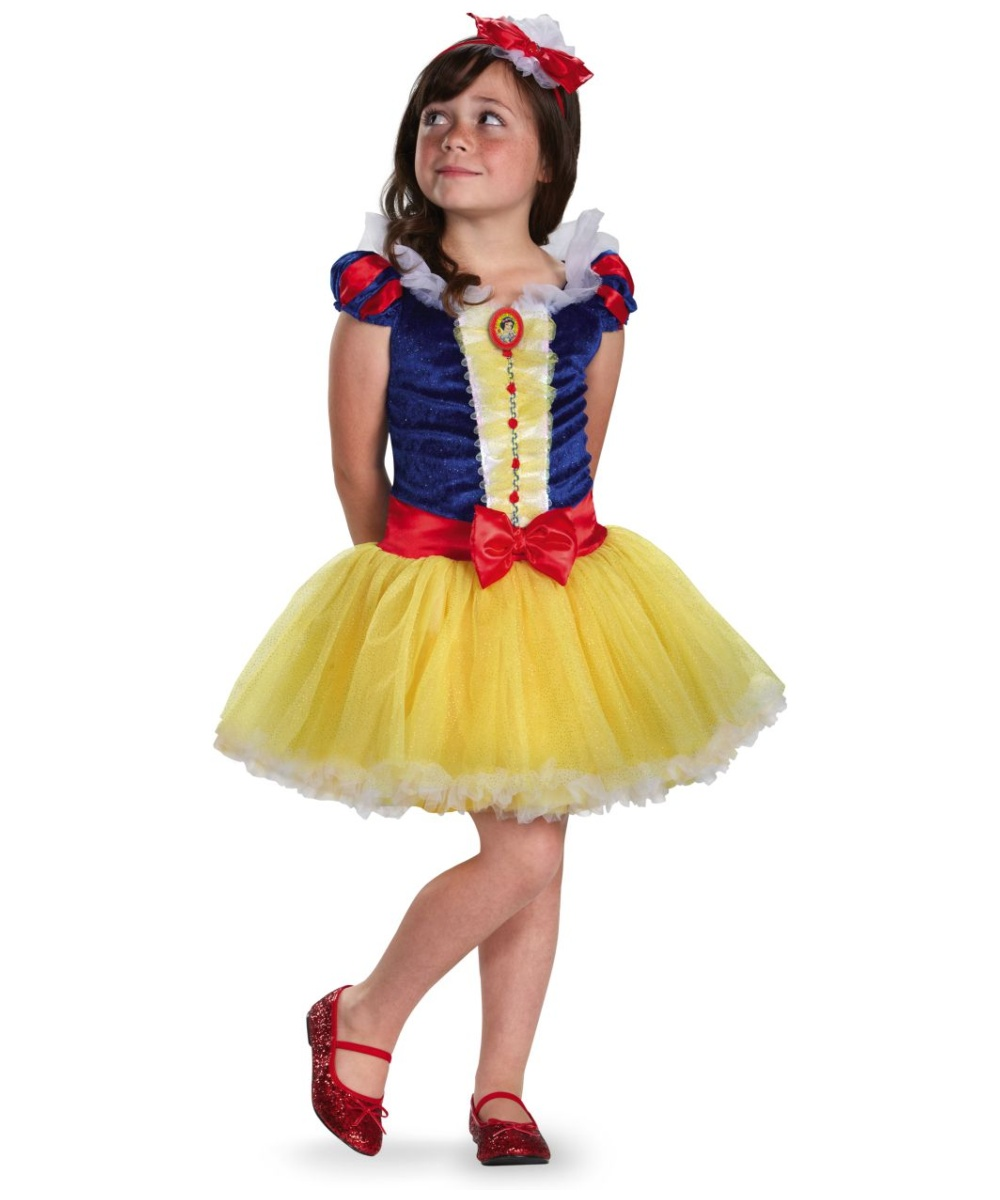 sc 1 st  Halloween Costumes & Snow White Tutu Kids Disney Costume - Girl Disney Costumes