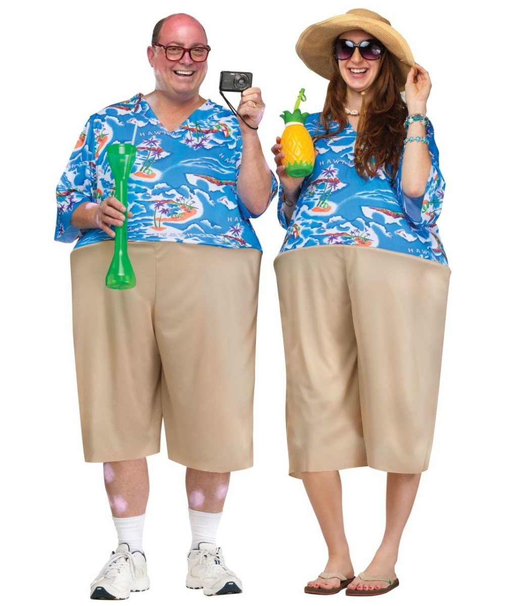Adult Tacky Tourist Hawaiian Halloween Costume - Adult ... | 1000 x 1200 jpeg 212kB