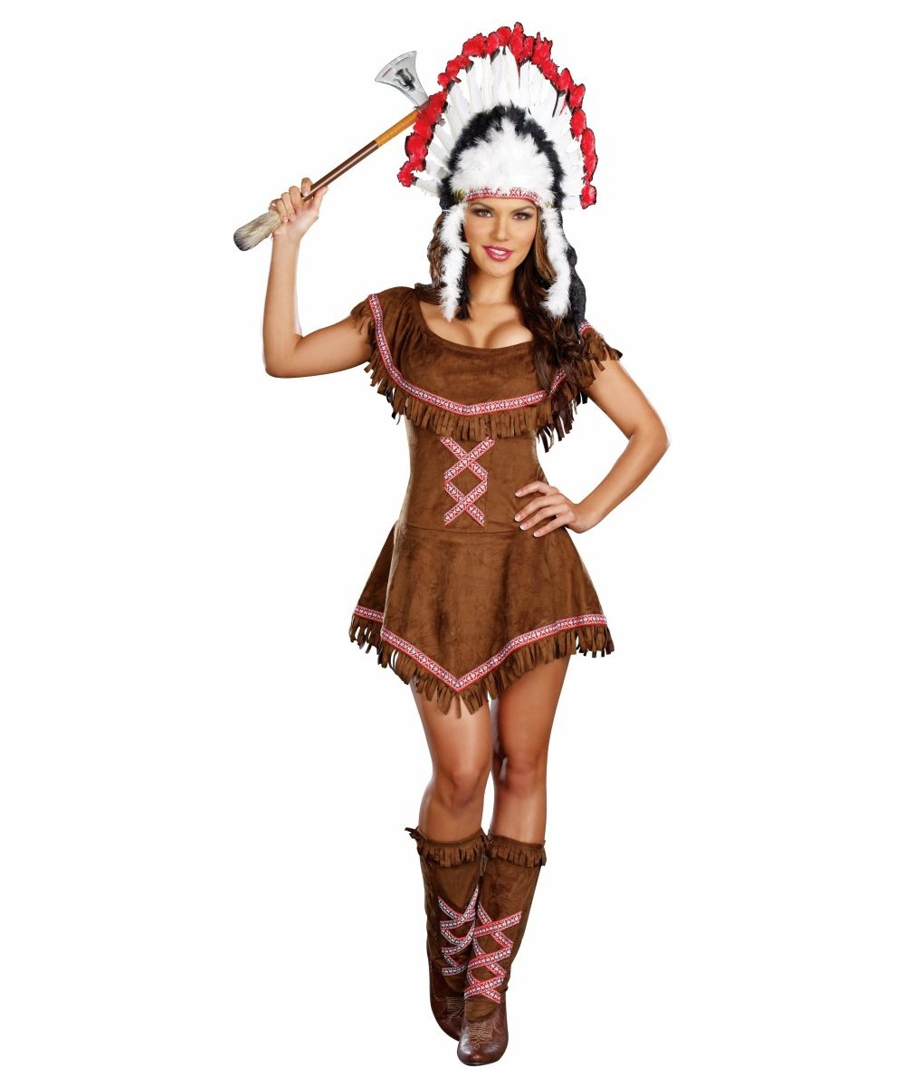 Tippin Teepees Womenu0027s Indian Costume Deluxe  sc 1 st  Wonder Costumes & Adult Tippin Teepees Indian Costume - Women Costume