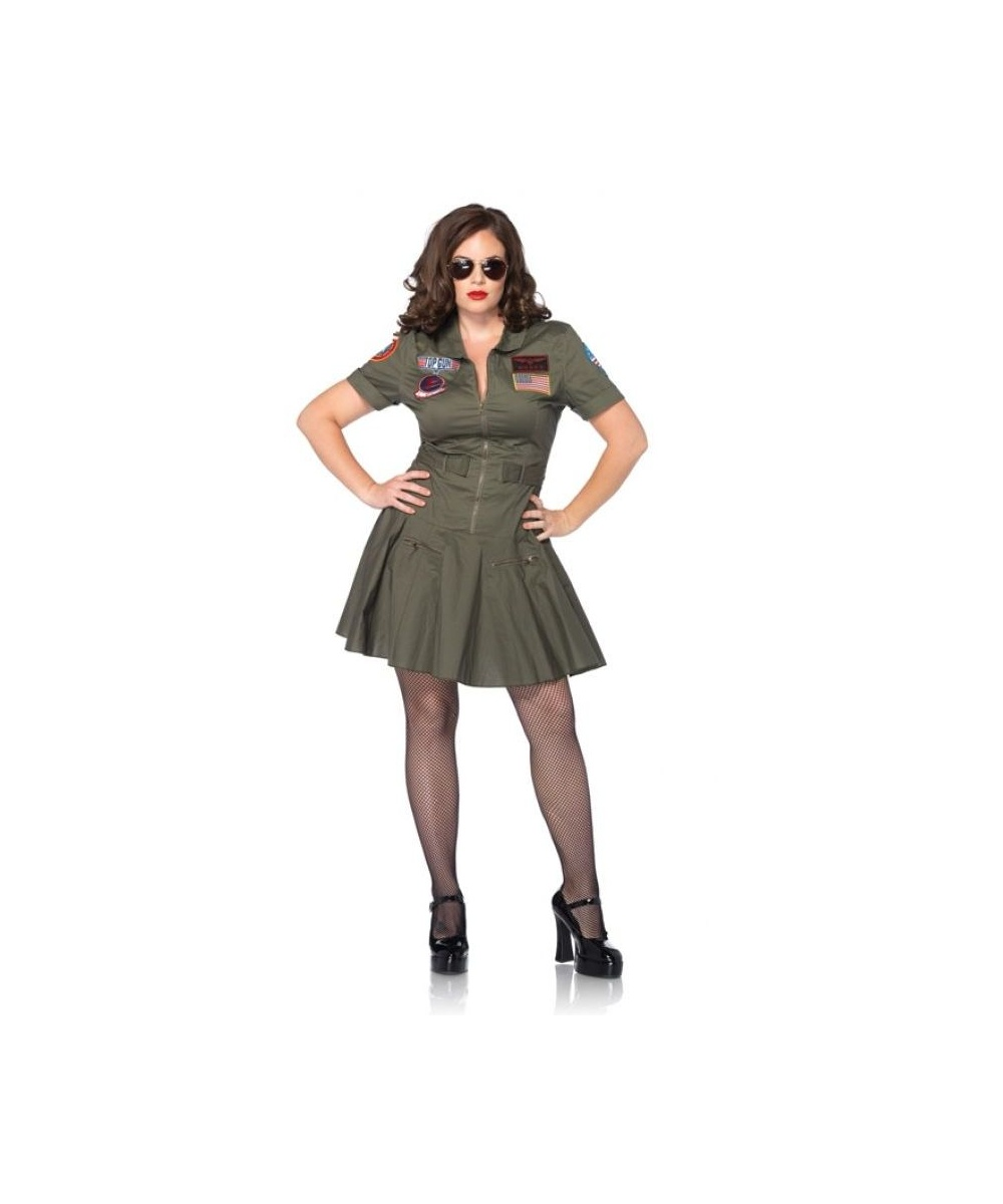 Top Gun Women plus size Costume