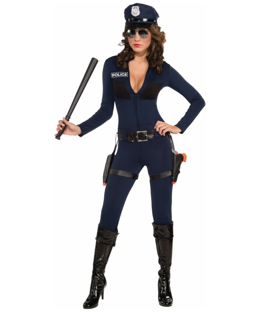 Traffic Stopping Cop Women Costume  sc 1 st  Wonder Costumes & Police Costume - Police Officer Haloween Costumes