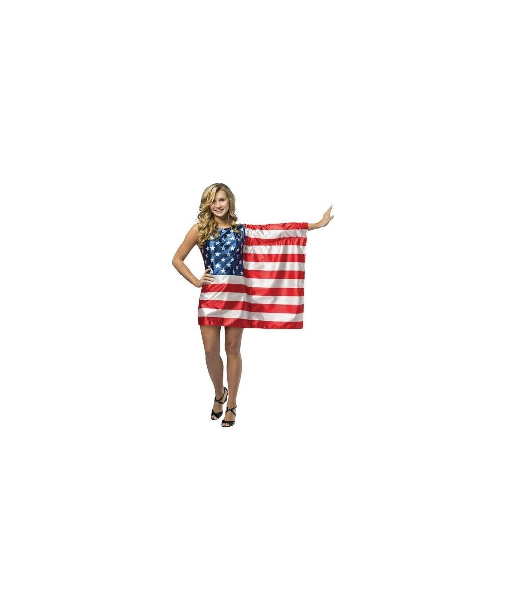 Usa Flag Dress Costume