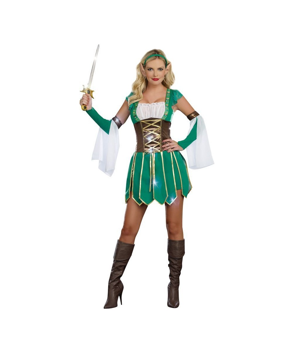 Warrior Elf Women Costume  sc 1 st  Wonder Costumes : green goblin costume for adults  - Germanpascual.Com
