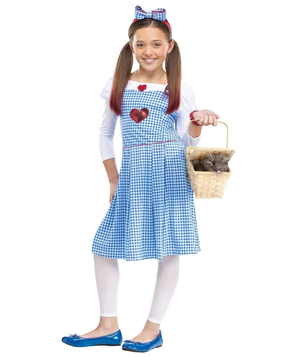 Wizard Of Oz Dorothy Girls Costume  sc 1 st  Halloween Costumes & Dorothy Wizard Of Oz Dothy Girls Costume - Movie Costumes