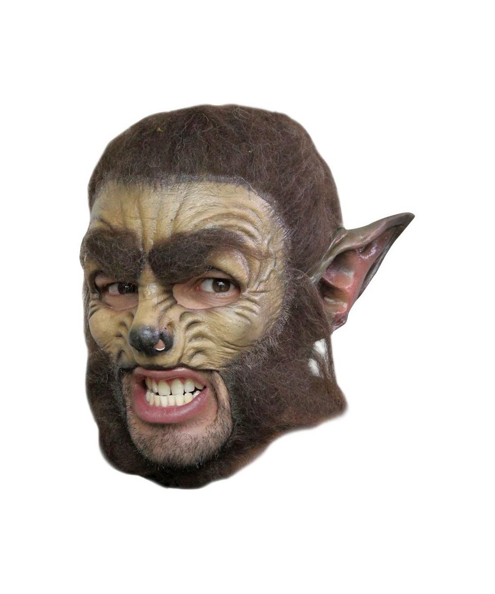 adult wolf chinless halloween mask - halloween animal mask