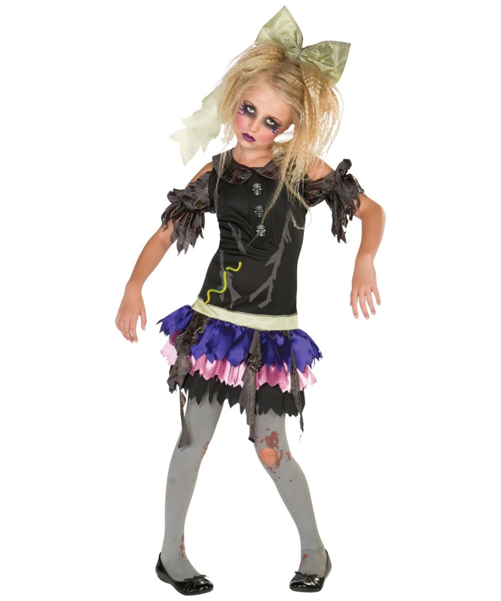 zombie doll kids costume girls costumes