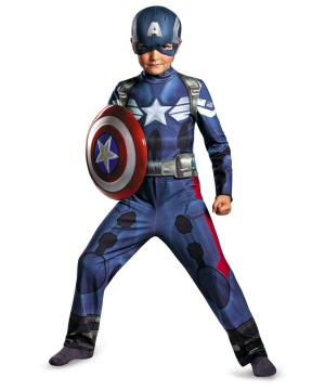 Captain America Movie 2 Boys Classic Costume