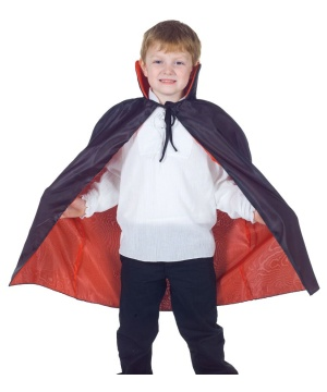Black Taffeta Kid Cape