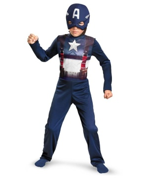 Captain America Movie Retro Economy Boys Costume