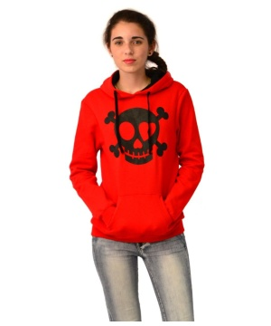 District Juniors Concert Fleece Drawstring Junior Skull Hoodie