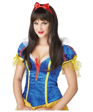 Dark Brown Enchanted Tresses Snow White Wig