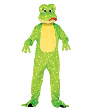 Freddy the Frog Mascot Adult Costume