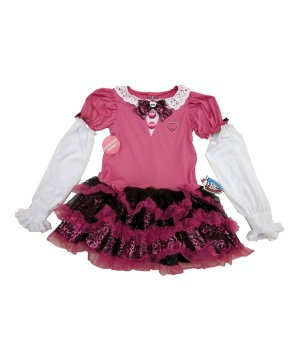 Girls Pink Costume Dress