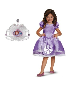 Girls Princess Sofia Costume Kit