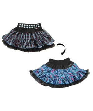 Girls Punk Princess Reversible Pettiskirt