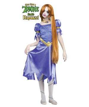 Girls Zombie Rapunzel Costume