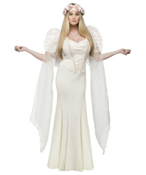 Ivory Angel Womens Costume Theatrical