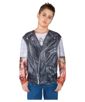 Biker Shirt Boy Costume