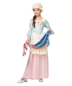 Colonial Lady Girls Costume