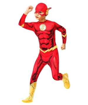 Kids Flash Jumpsuit Costume