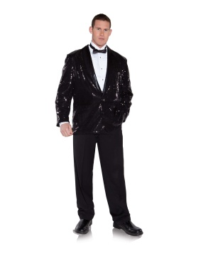 Mens Black Sequin Jacket