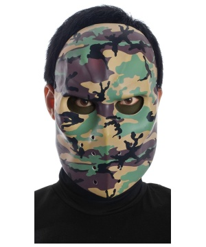 Jason Camo Hockey Mask Men Accessory