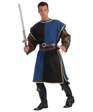 Medieval Knight Blue Mens Tabard
