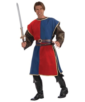Medieval Knight Red Mens Tabard