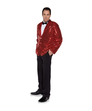 Mens Red Sequin Jacket