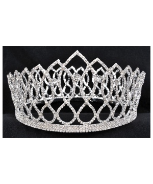Mens Rhinestone King Crown