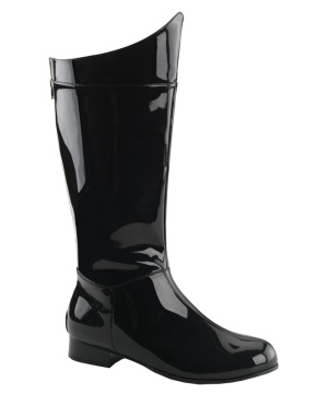 Mens Superhero Pat Black Boots