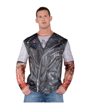 Mens Tattooed Biker Costume