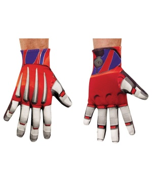 Mens Transformers Optimus Prime Gloves