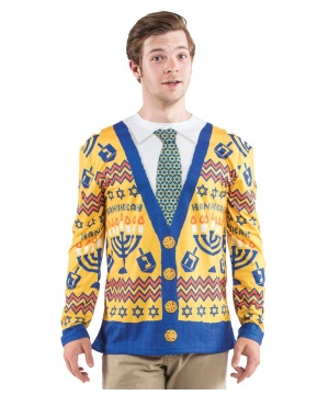 Ugly Hanukkah Sweater Mens Costume Shirt