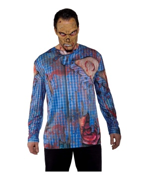 Mens Zombie Costume Shirt