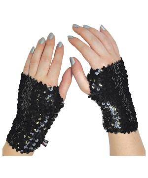 Monster High Black Sequin Glovelettes