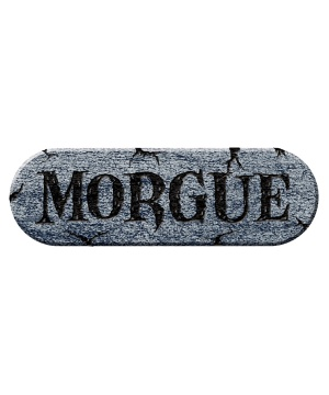Morgue Foam Plaque Decoration