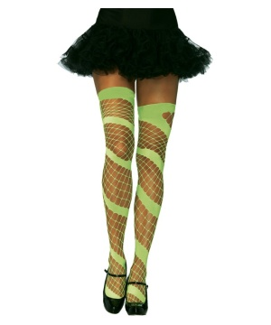 Neon Thigh Highs Green