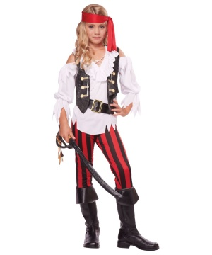 Posh Pirate Girls Costume