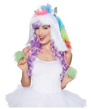 Rainbow Unicorn Hood