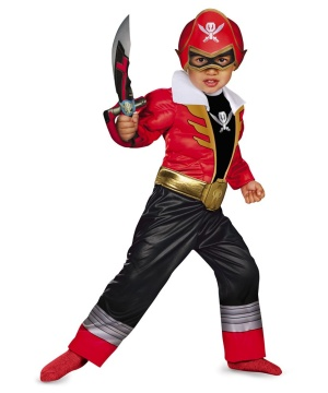 Red Ranger Super Megaforce Toddler Boys Muscle Costume