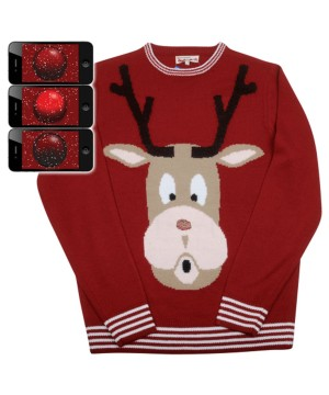 Red Nosed Reindeer Rudolph Ugly Christmas Sweater