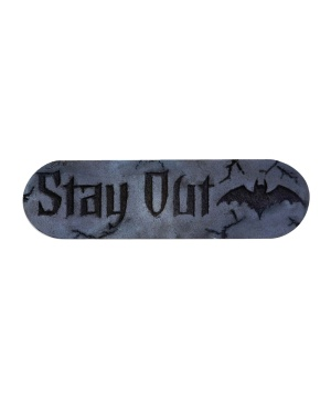 Stay Out Foam Plaque Decoration