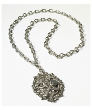 Steampunk Gears Silver Necklace
