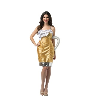 Womens Beer Mug Dress Costume