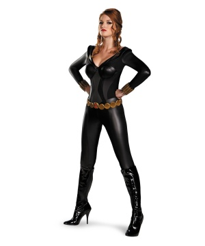 Womens Black Widow Bustier Costume